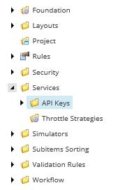 API Keys Item