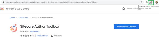 Sitecore Author Toolbox installed